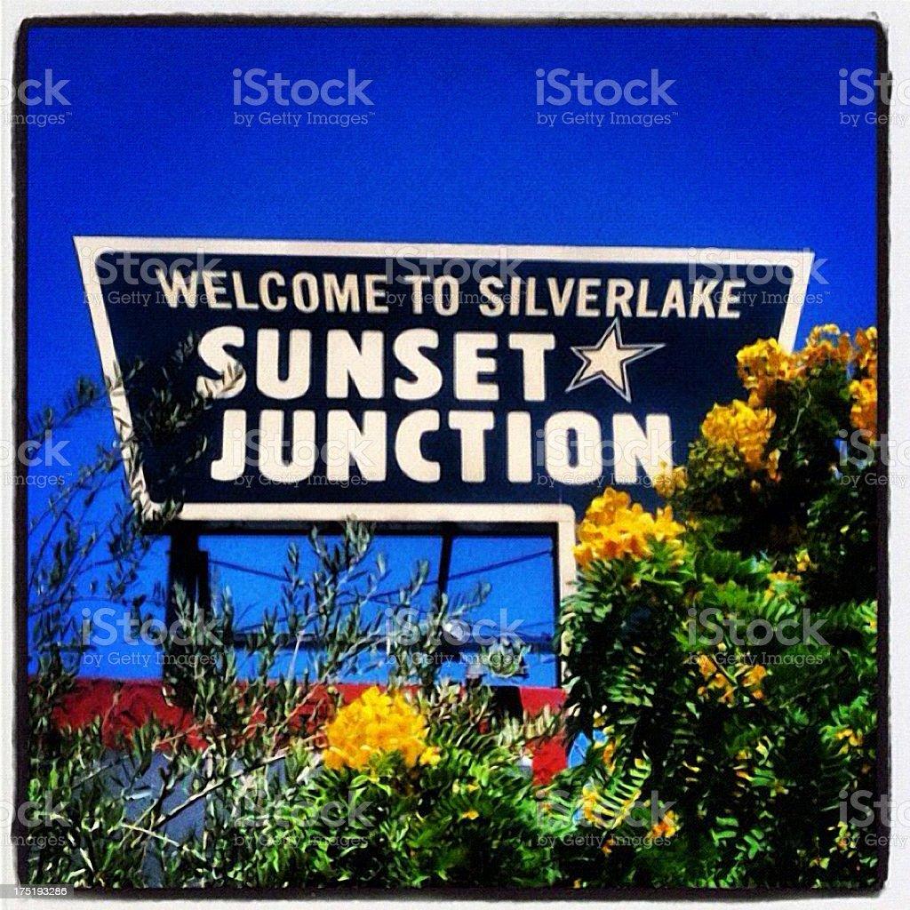 Sunset Junction stock photo