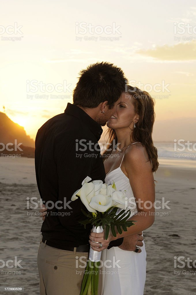 Sunset kiss royalty-free stock photo