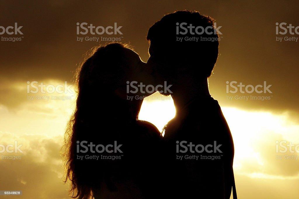 Sunset Kiss royalty-free stock photo
