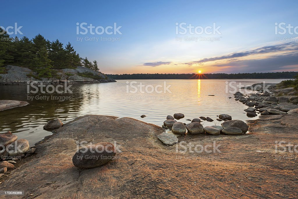 Sunset Lake Landscape stock photo