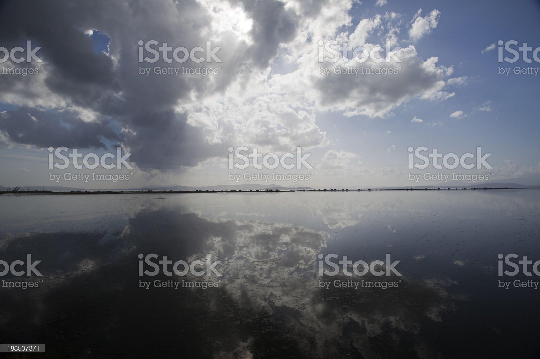 Sunset Lake Reflection royalty-free stock photo