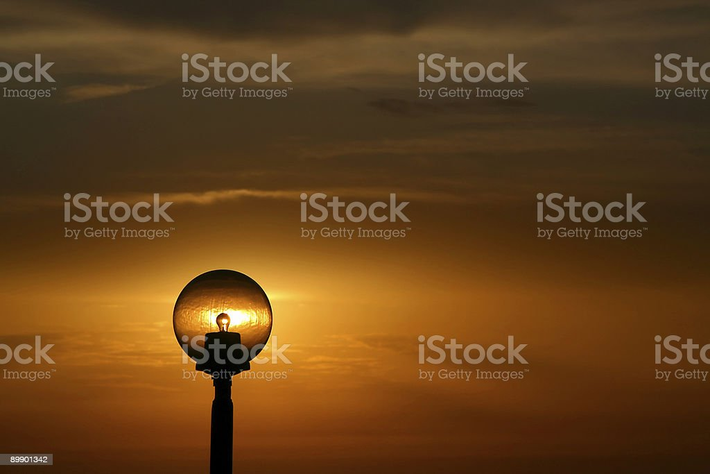 Sunset Lamp royalty-free stock photo
