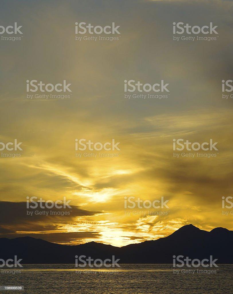 Sunset land royalty-free stock photo