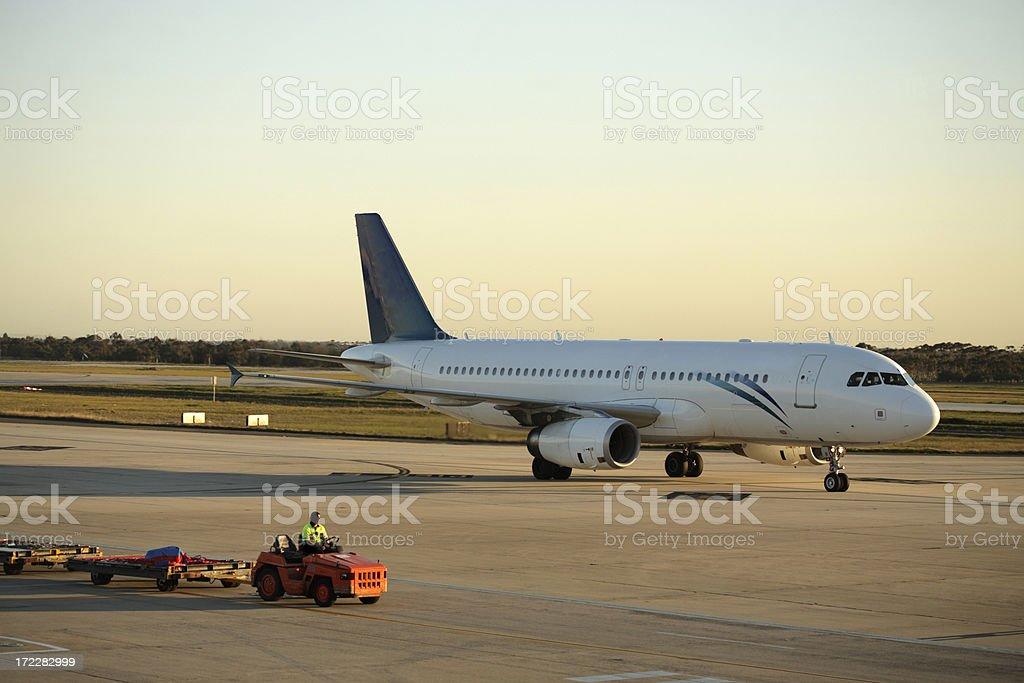 Sunset Landing royalty-free stock photo