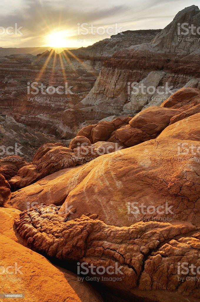 Sunset landscape at Paria Rimrocks, Utah, USA stock photo