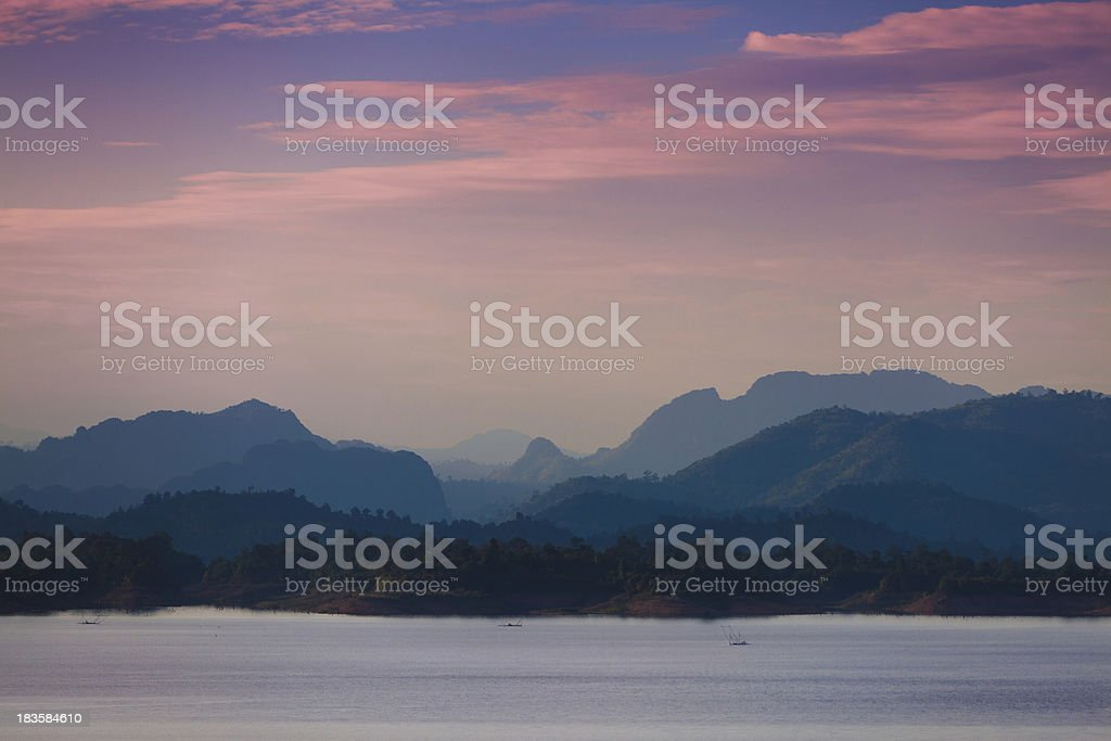Sunset Landscape in the West of Thailand royalty-free stock photo