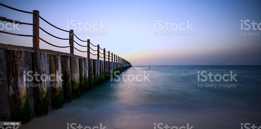 Sunset Landscape Jumeirah Beach Dubai3 stock photo
