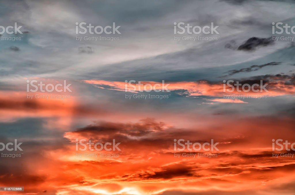 Sunset, landscape nature stock photo