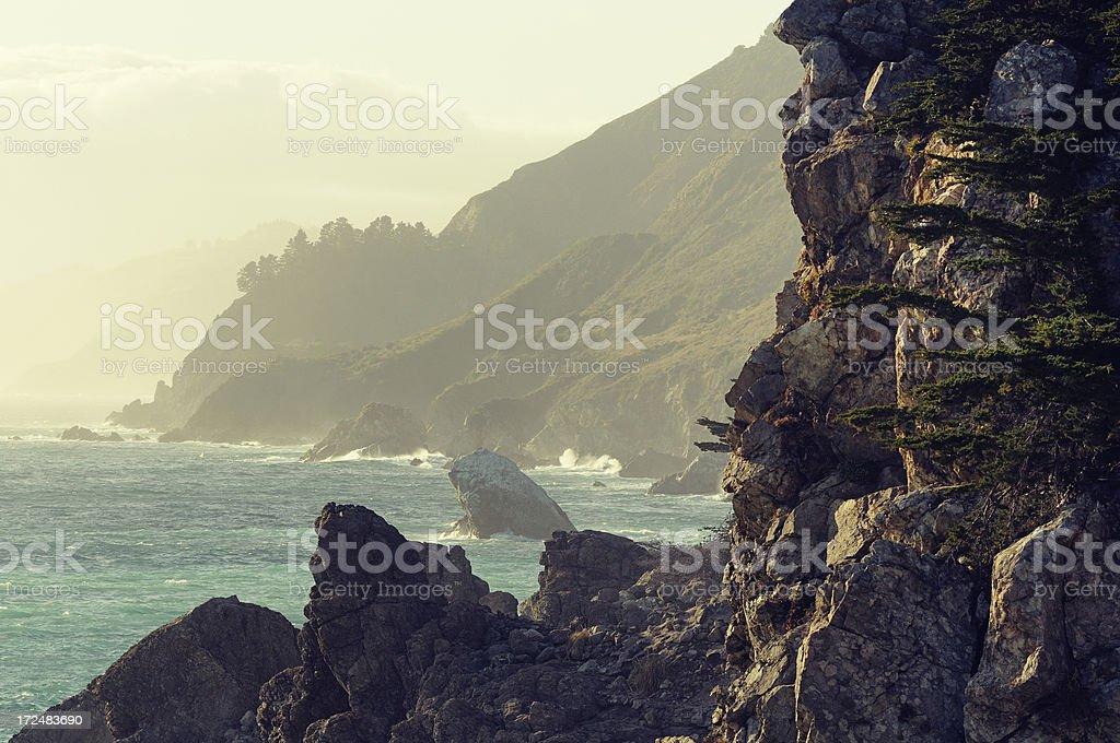 Sunset landscape of Big Sur, California, USA royalty-free stock photo