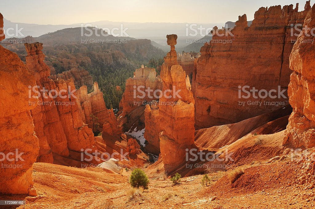 Sunset landscape of Thor's Hammer viewpoint, Bryce Canyon royalty-free stock photo
