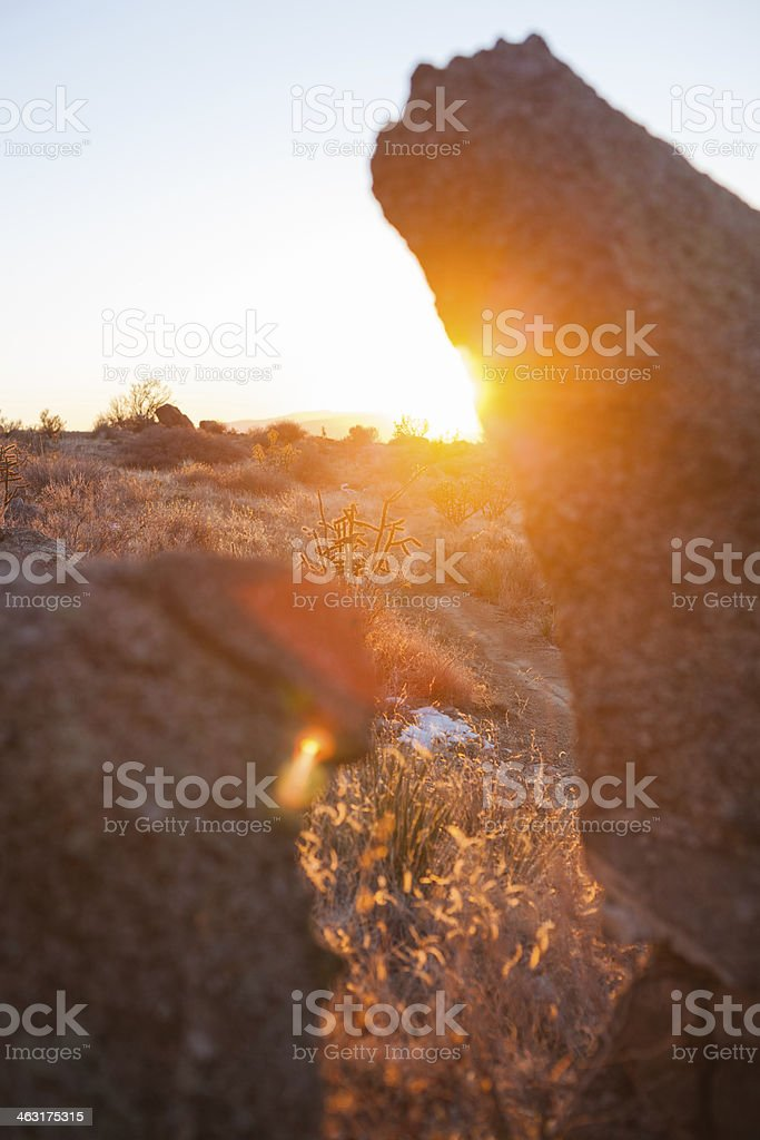 sunset landscape royalty-free stock photo
