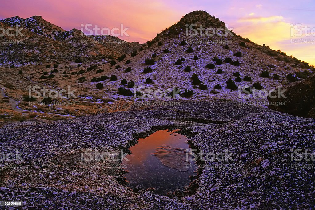 sunset landscape royalty-free stock photo