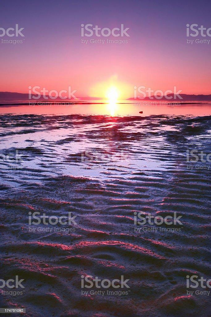 sunset landscape river shore royalty-free stock photo