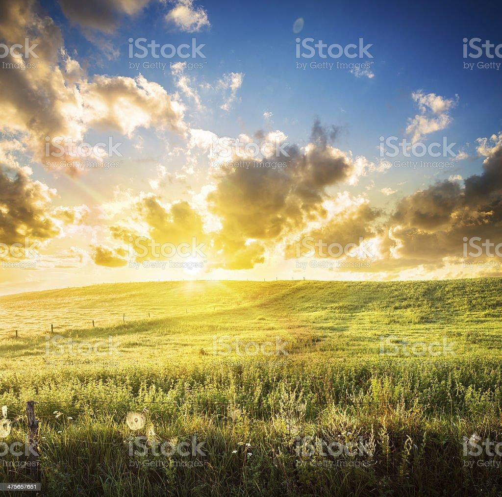 Sunset Landscape - XXXL image royalty-free stock photo