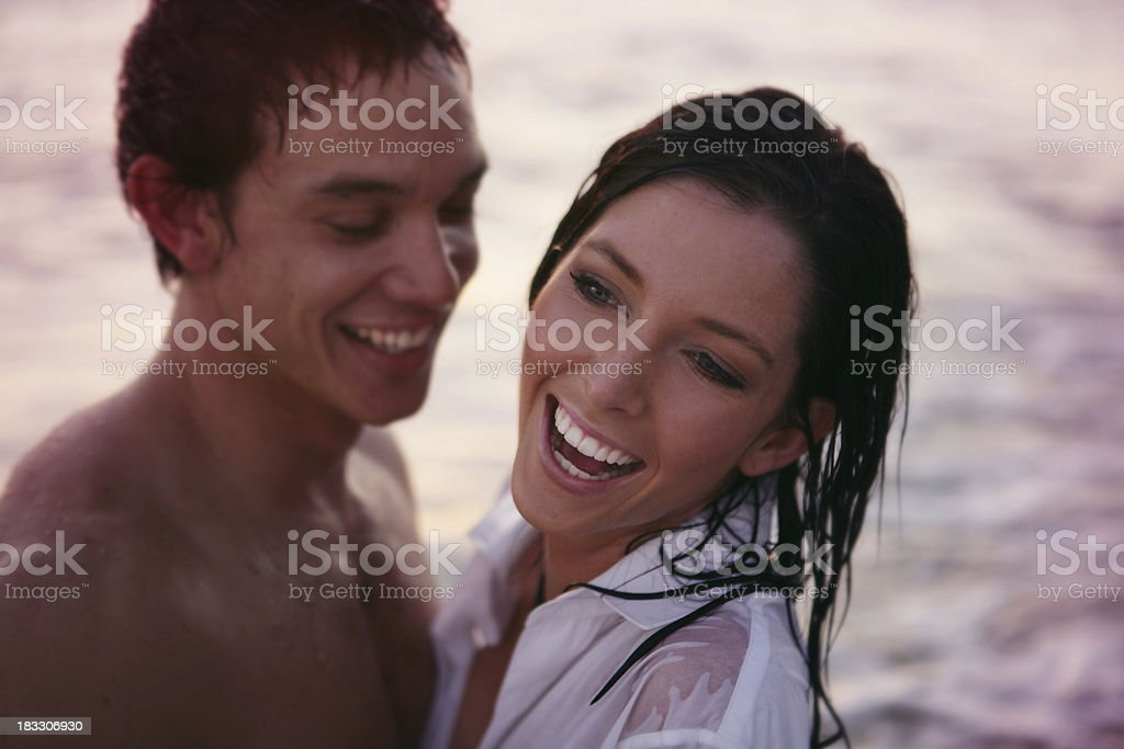 Sunset Laughter royalty-free stock photo