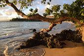sunset light at Mauna Kea beach, Big Island, Hawaii