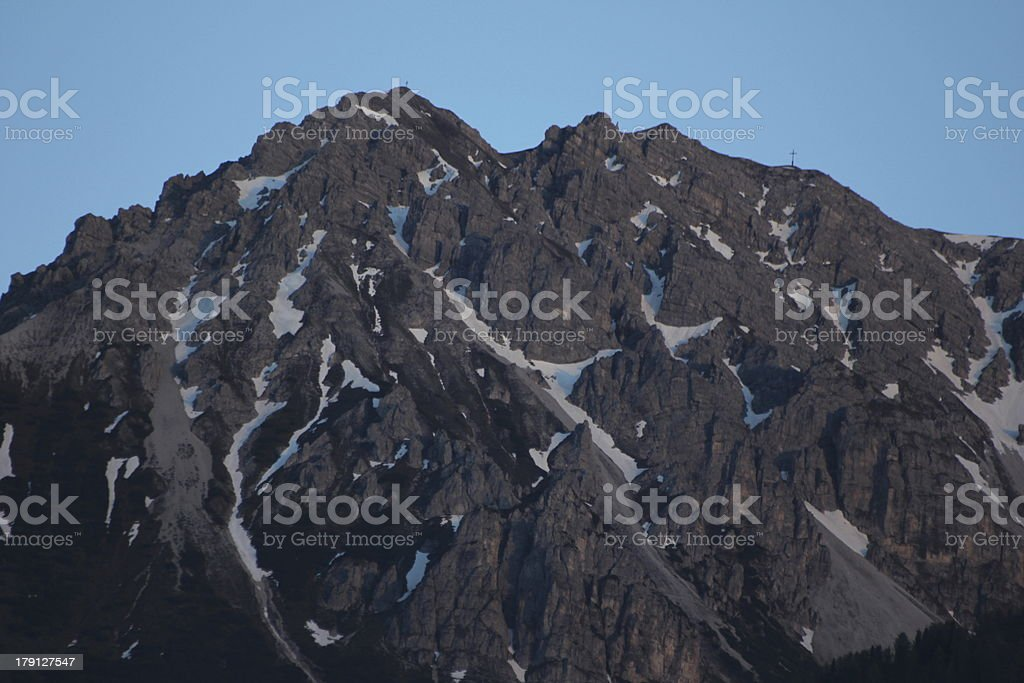 Sunset Light in the Alpine Mountains of Austria, Nockspitze royalty-free stock photo