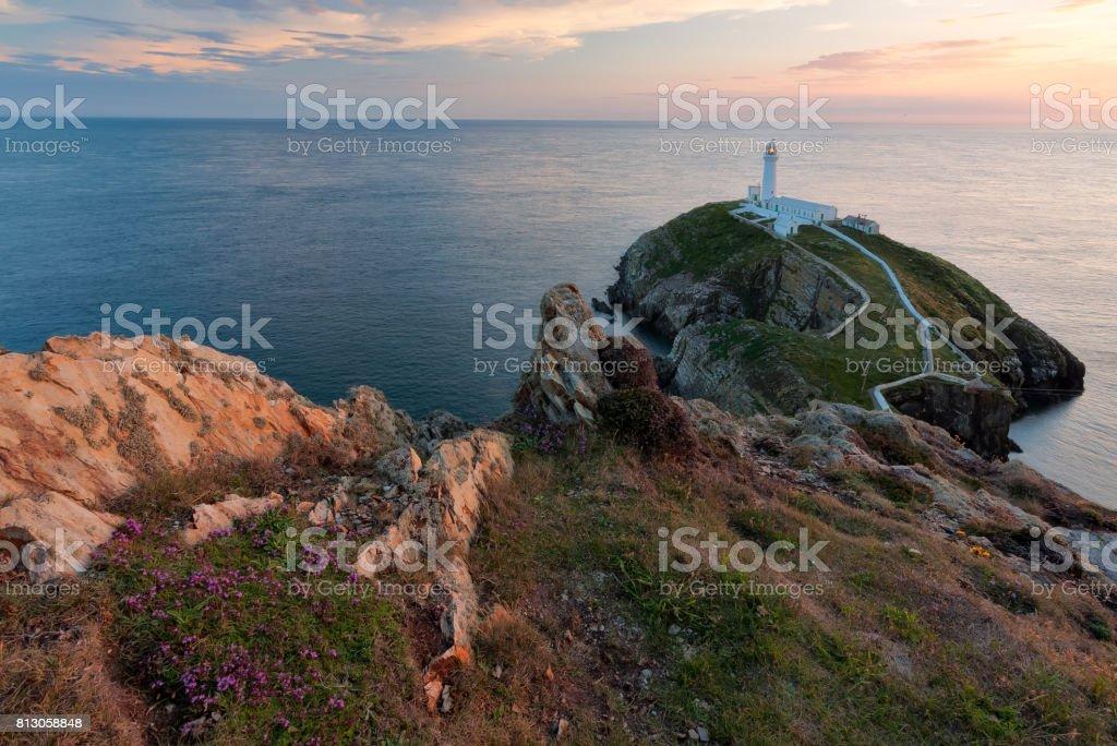 Sunset light stock photo