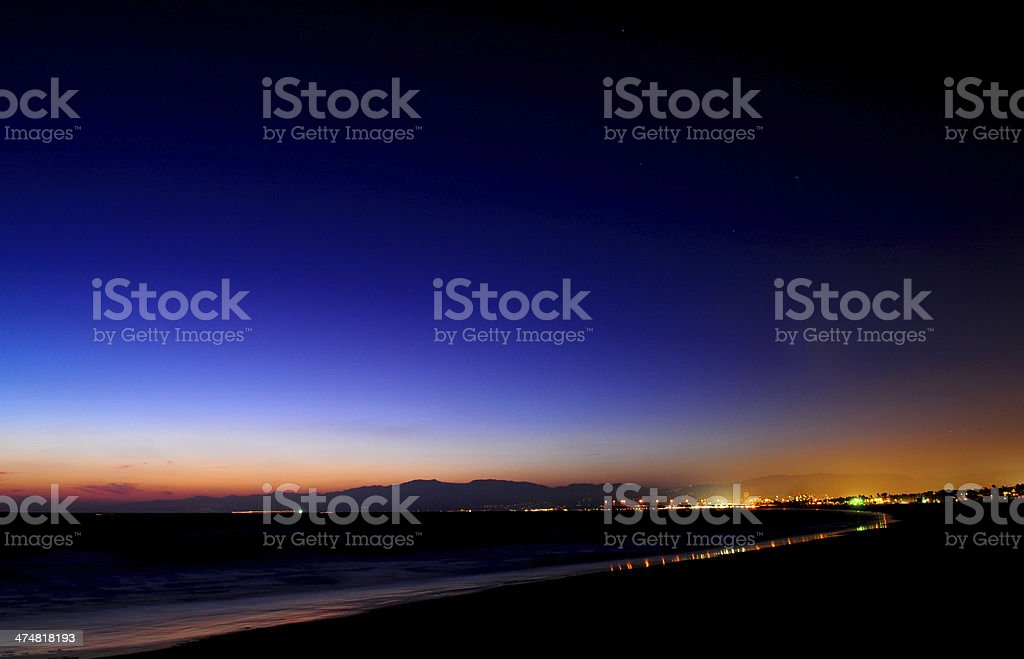 Sunset Los Angeles. Malibu, Santa Monica, Venice stock photo