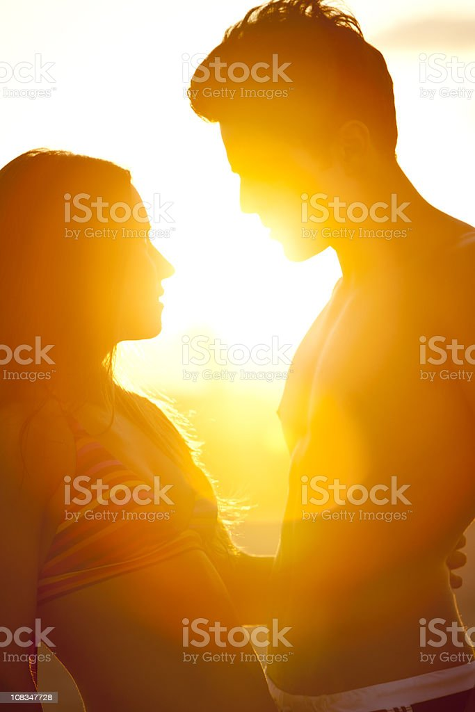 Sunset lovers royalty-free stock photo
