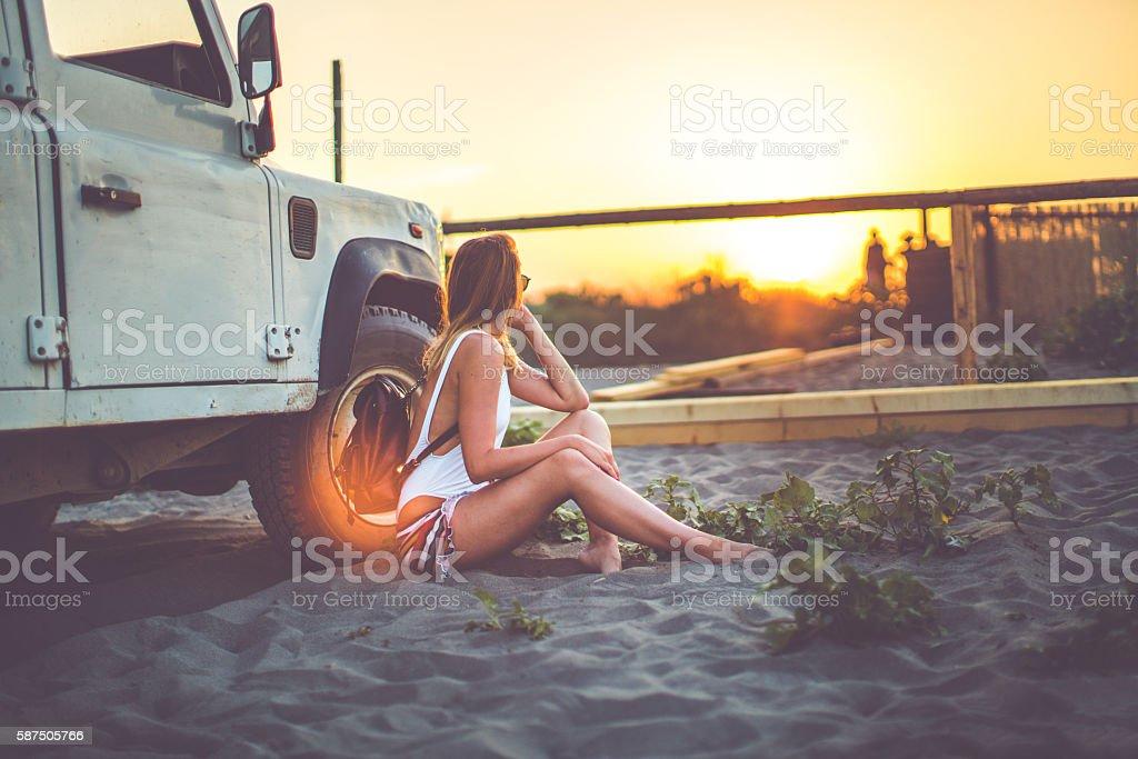 Sunset miracles stock photo