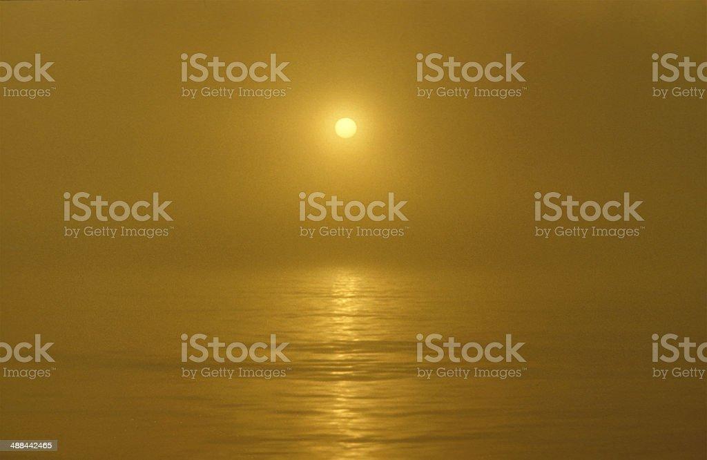 Sunset mist royalty-free stock photo
