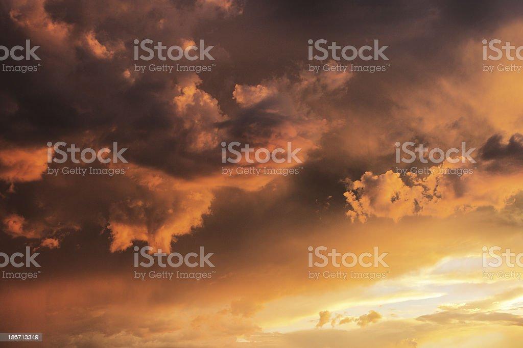 Sunset Monsoon Storm Cloudscape Sky royalty-free stock photo
