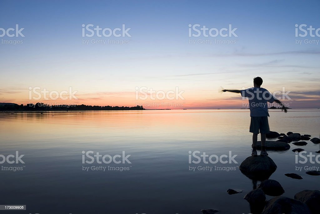 Sunset motions royalty-free stock photo