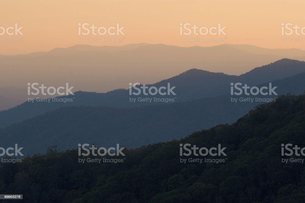 Sunset Mountain Layers royalty-free stock photo