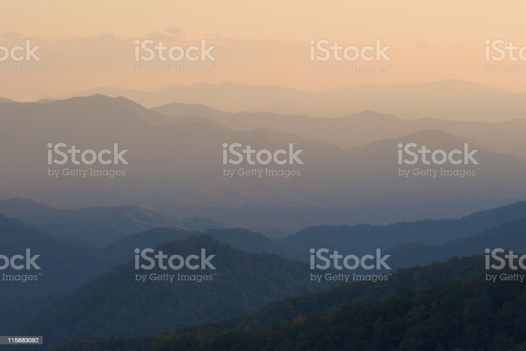 Sunset Mountain Peaks royalty-free stock photo
