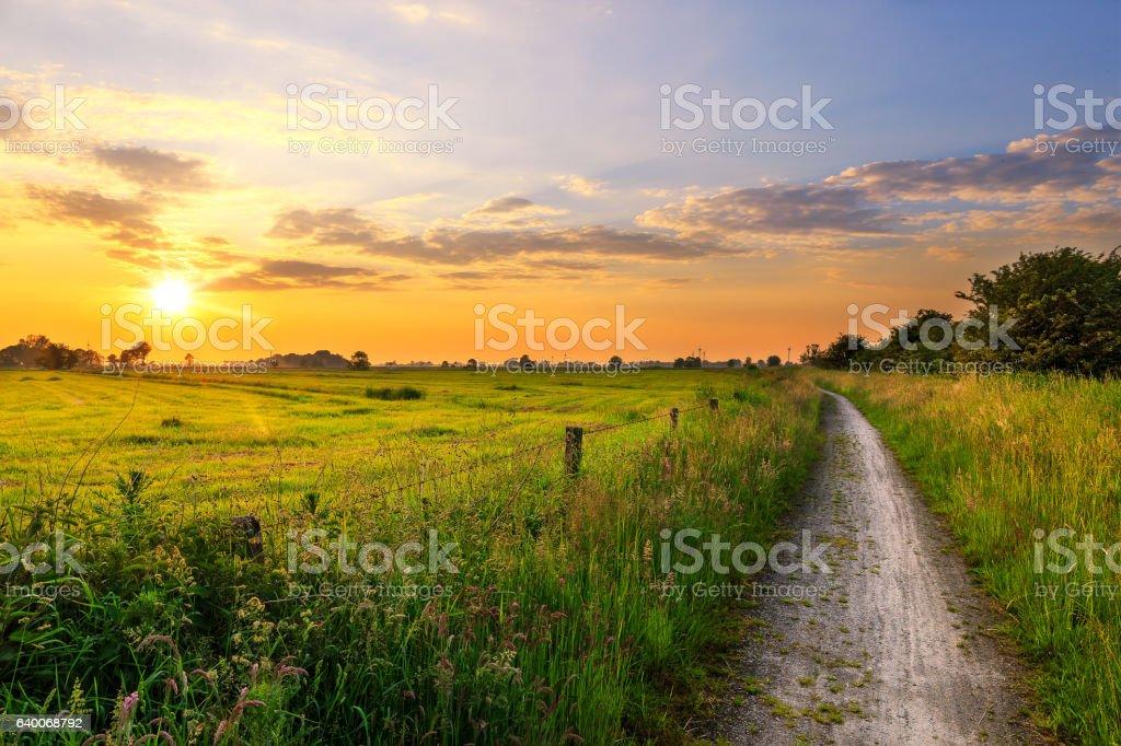Sunset near Funnix stock photo