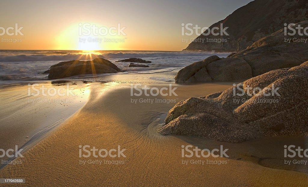 Sunset near Pacifica, California stock photo