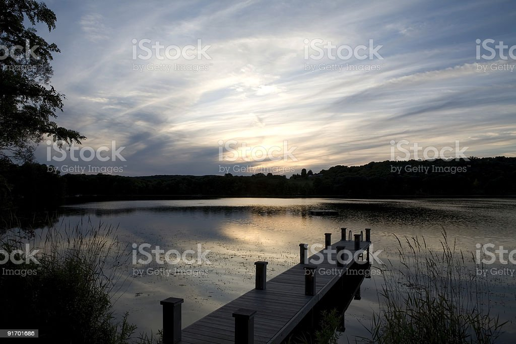 Sunset near the Dock royalty-free stock photo