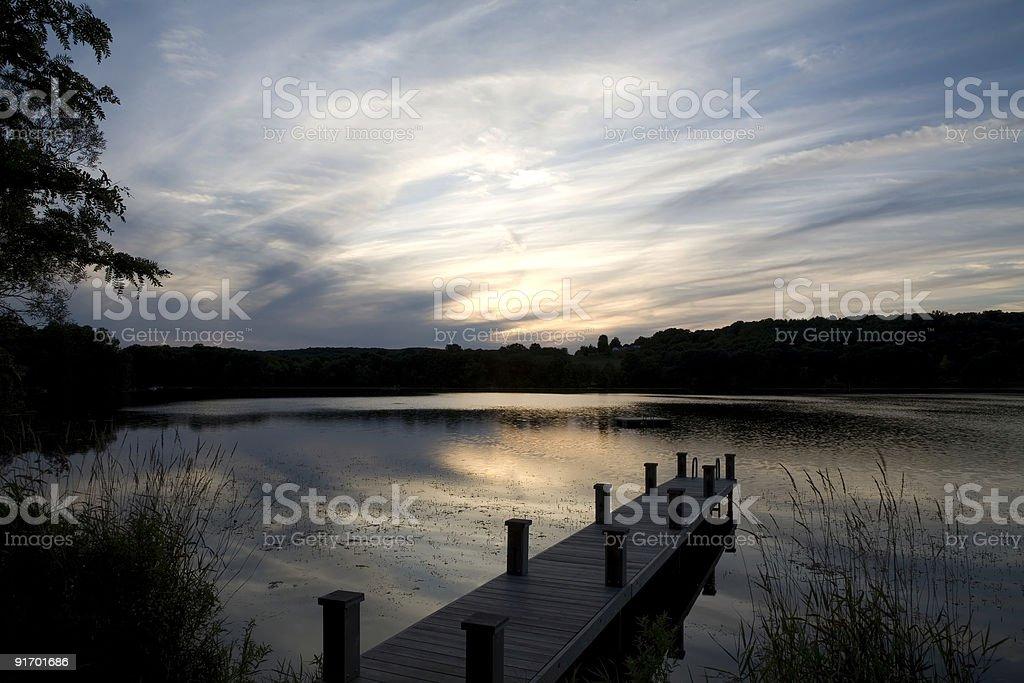 Sunset near the Dock stock photo