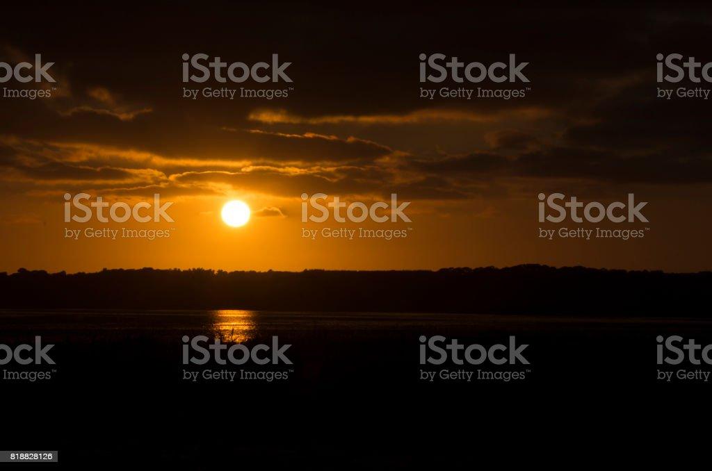 Sunset near Tralee stock photo