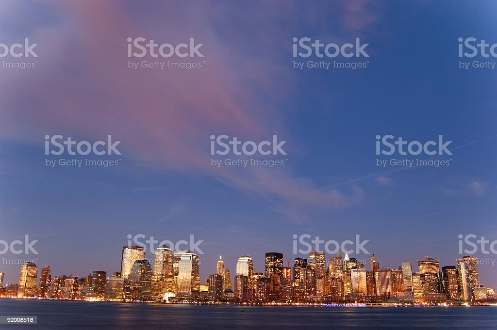 Sunset New York royalty-free stock photo