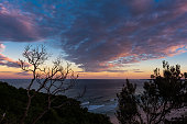 Sunset ocean view in Byron Bay  Australia