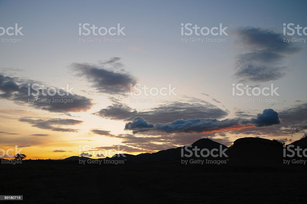 sunset of a sun royalty-free stock photo
