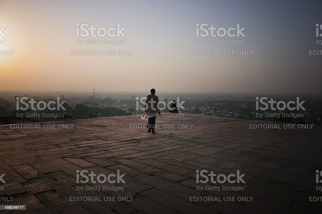 Sunset of Fatehpur Sikri Palace royalty-free stock photo