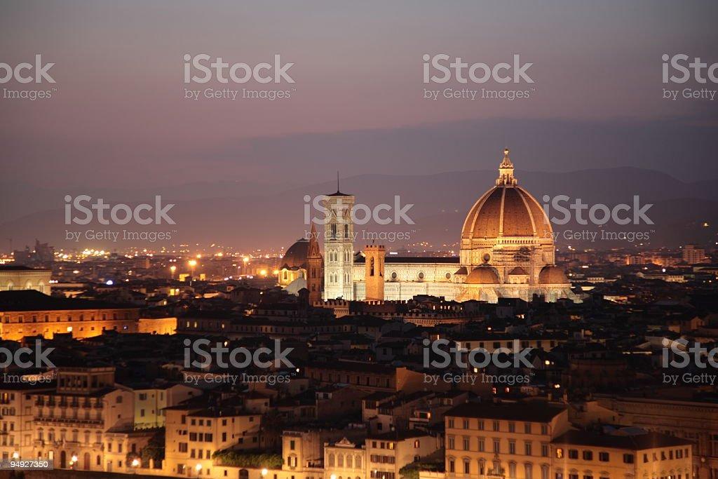 Sunset of Florence Skyline royalty-free stock photo