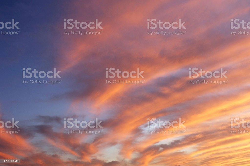 Sunset #1 of Series royalty-free stock photo
