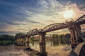 Sunset of The Bridge of the River Kwai