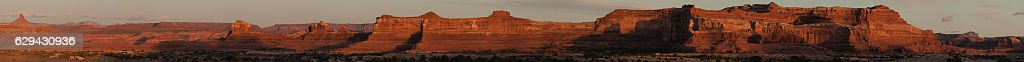 Sunset of the cliffs and mesas around Canyonlands National Park, stock photo