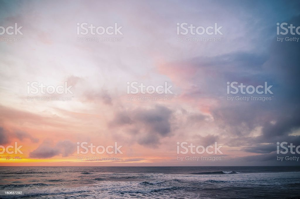 Sunset on a beach royalty-free stock photo