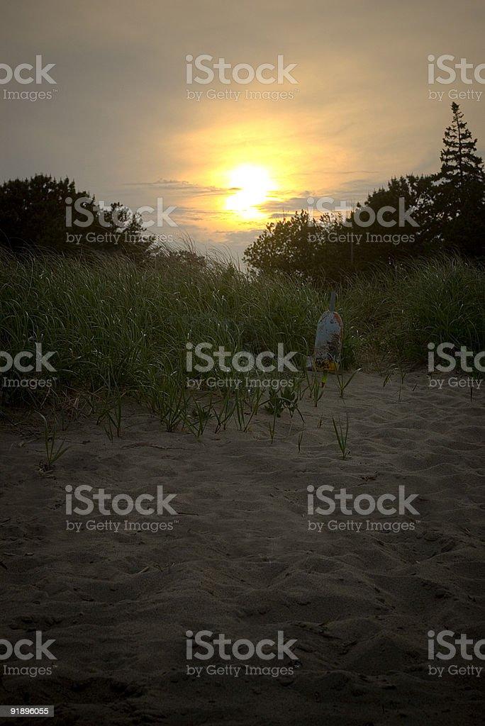 Sunset on beach royalty-free stock photo