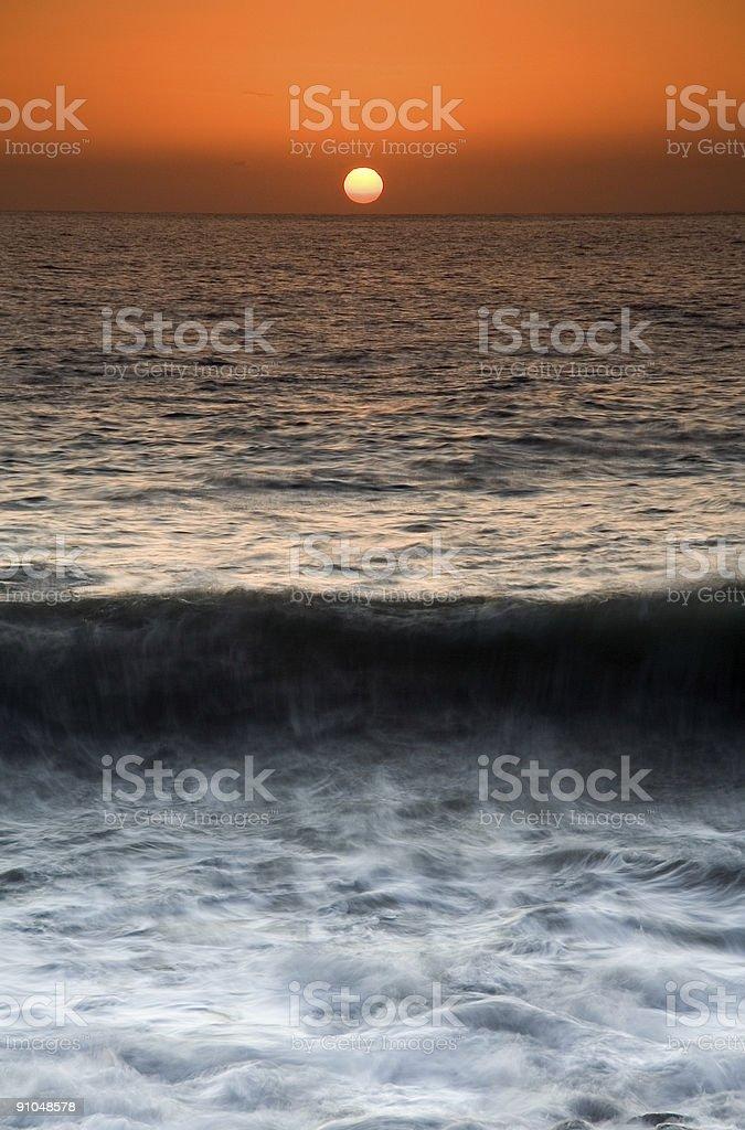 Sunset on Coast royalty-free stock photo