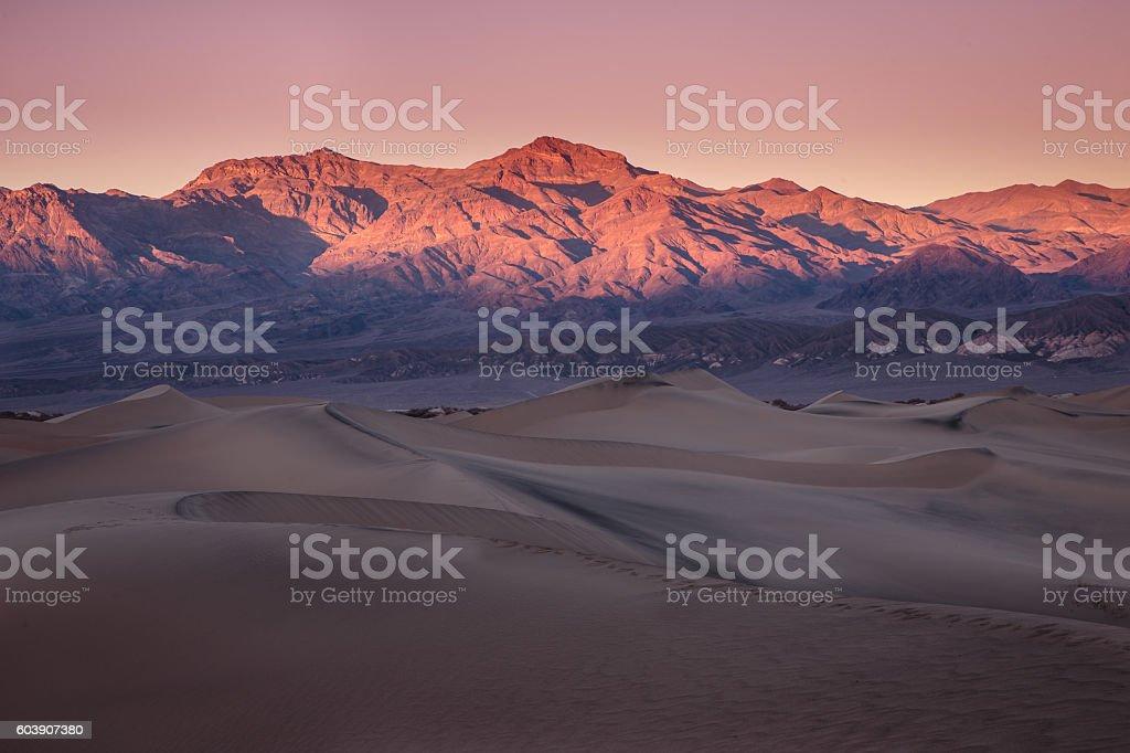 Sunset on Death Valley Стоковые фото Стоковая фотография