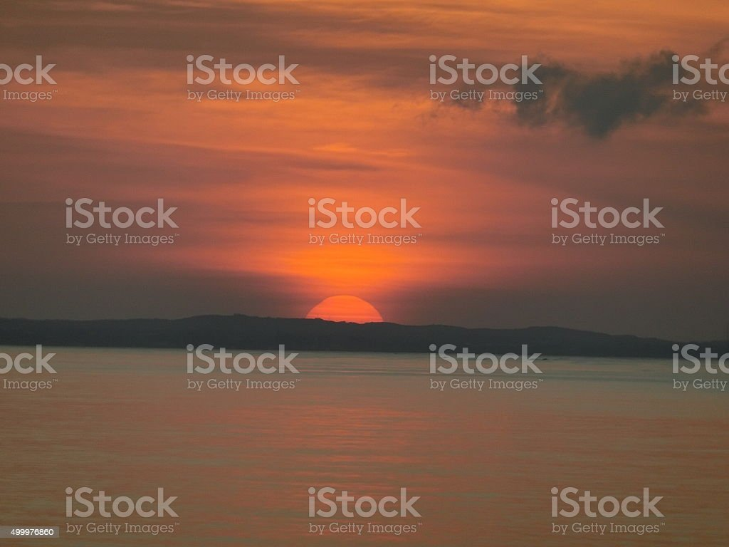 Sunset on Grace Bay stock photo