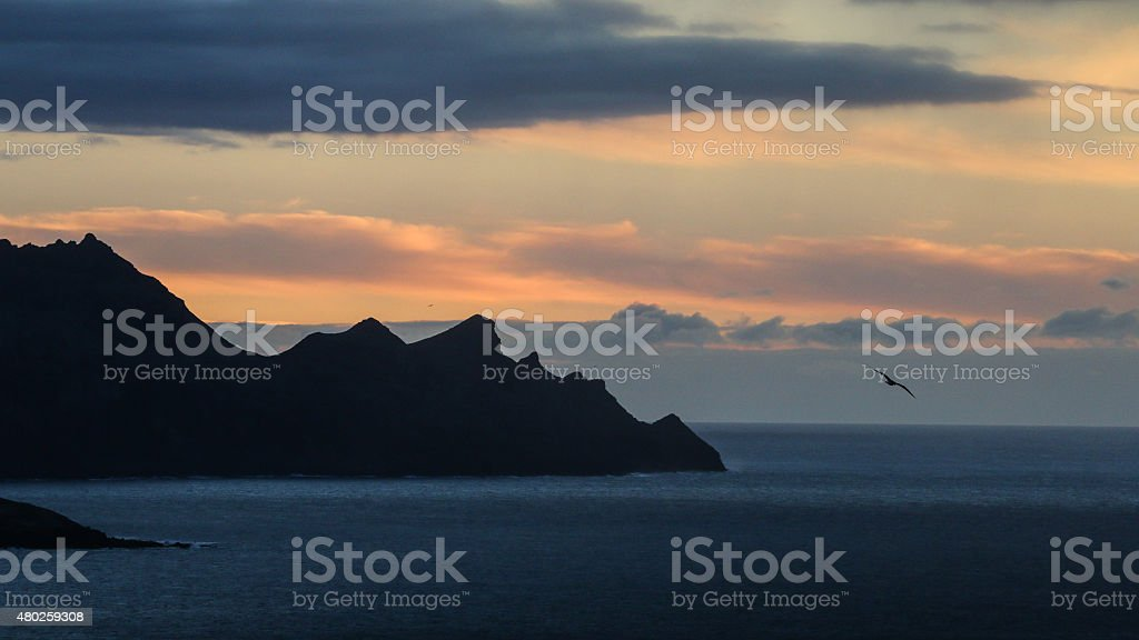 Sunset on Gran Canaria royalty-free stock photo