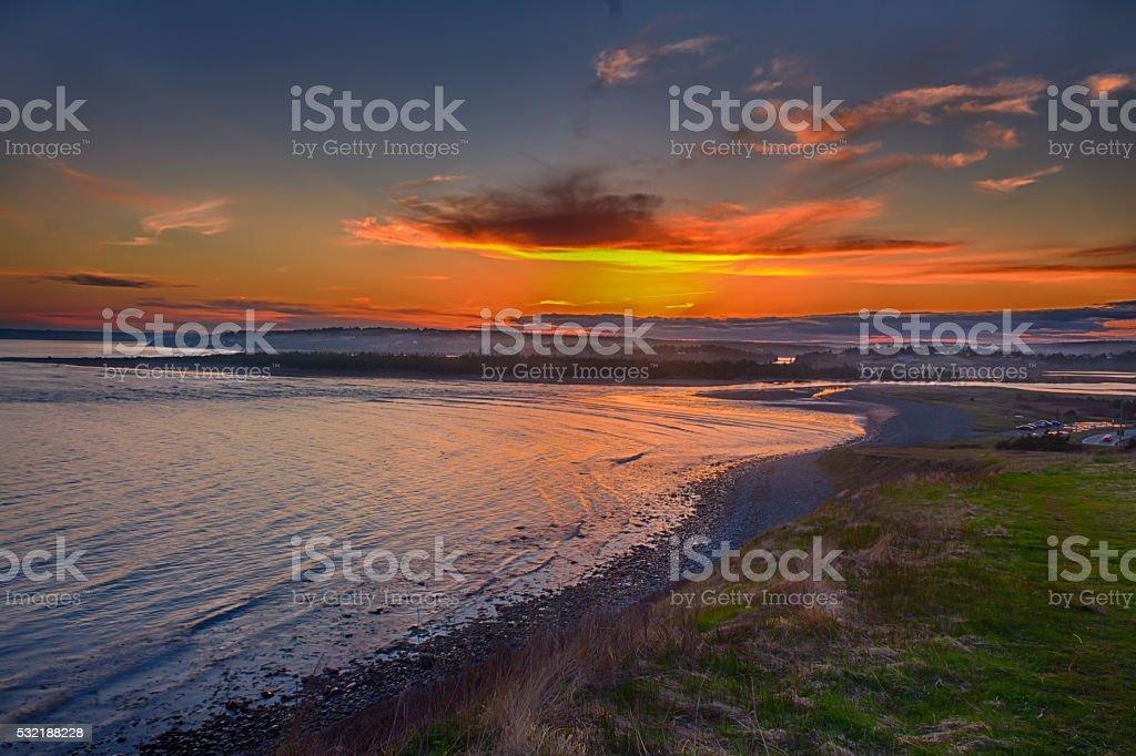 Sunset on Halifax stock photo